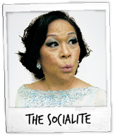 Junji Delfino as The Socialite