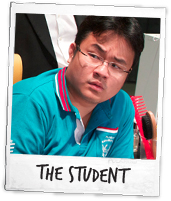 Dr Jason Leong as The Student