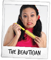 Marina Tan as the Beautician